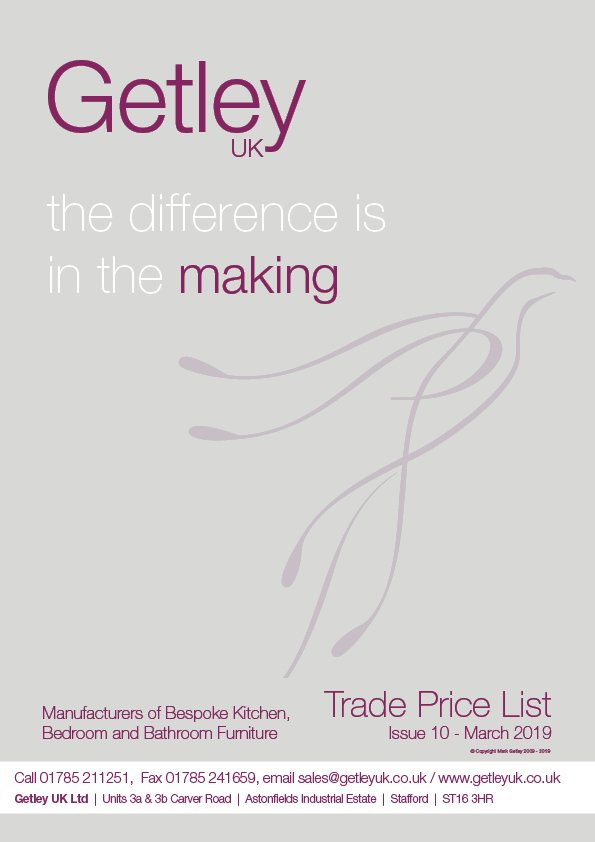 Getley UK Trade Brochure